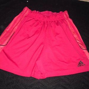 Pink adidas athletic shorts